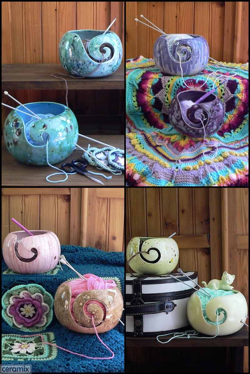 Yarn Bowls in bright colours Handmade in South Africa by Margaret Melville Hugo at Ceramix