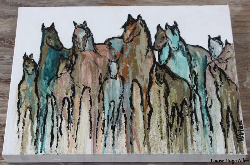 Horse painting by Vivian