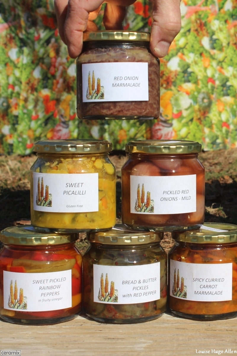 Artisanal Pickles & Marmalade from Aloe Dale Farm available at the Glen Fresh Market in Midrand every Saturday from 8.00 to 12.30