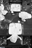 Frog Square Plate tablescape by Ceramix