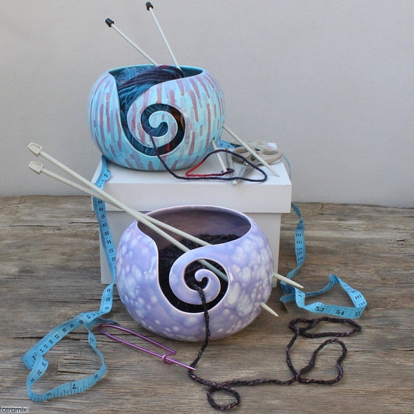 Divine Purple Large Round Yarn Bowl