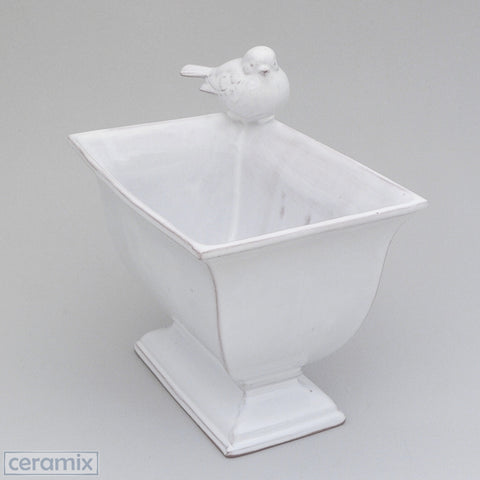 Ceramic Bird Cache Pot