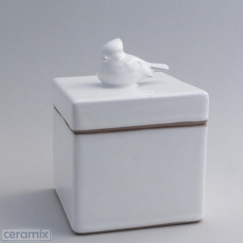 Ceramic Small Bird Jewelry Box