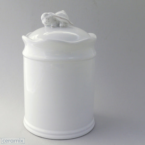 Ceramic Crawling Bunny Canister #2
