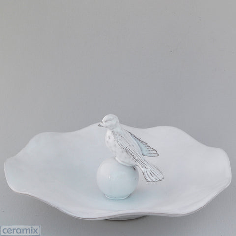 Ceramic Dove Compote Bowl