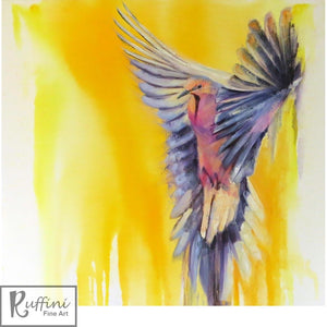 Flight 76cm x 76cm Oil on Canvas by Lorena Ruffini available from Ceramix.co.za @118Allan