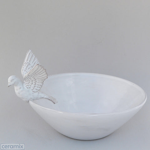 Ceramic Flying Dove Fruit Bowl