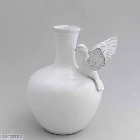 Ceramic Flying Dove Vase