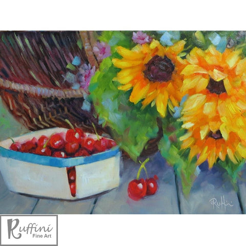 Freshly Picked 30cm x 40cm Oil on Canvas by Lorena Ruffini available from Ceramix.co.za @118Allan