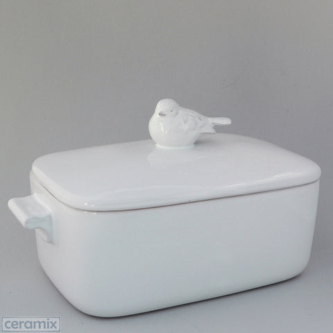 Ceramic Large Bird Casserole Dish