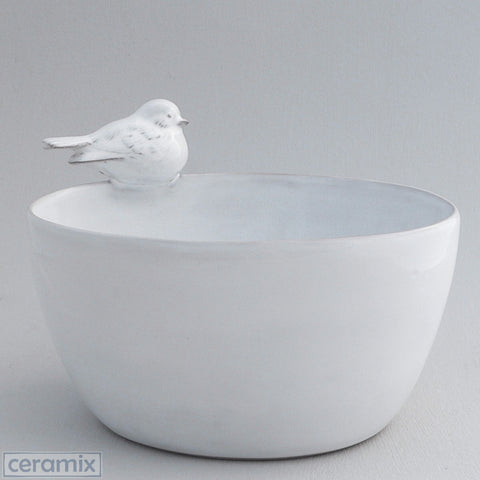 Ceramic Oval Bird Bowl #3