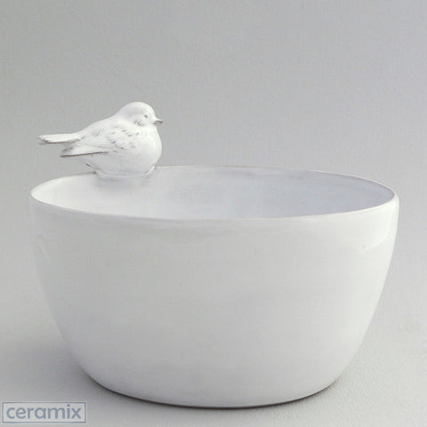 Ceramic Oval Bird Bowl #4