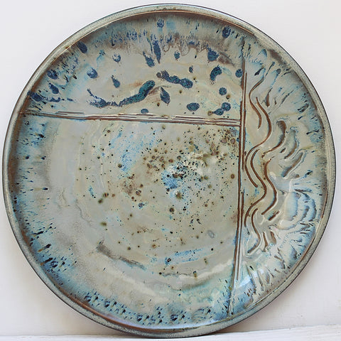 Sea Delight Large Round Stoneware Platter #4