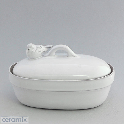 Ceramic Small Oval Bird Casserole Dish
