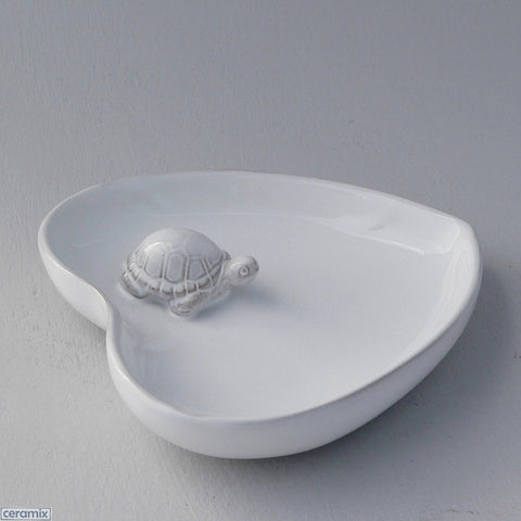 Ceramic Tortoise Small Heart Bowl