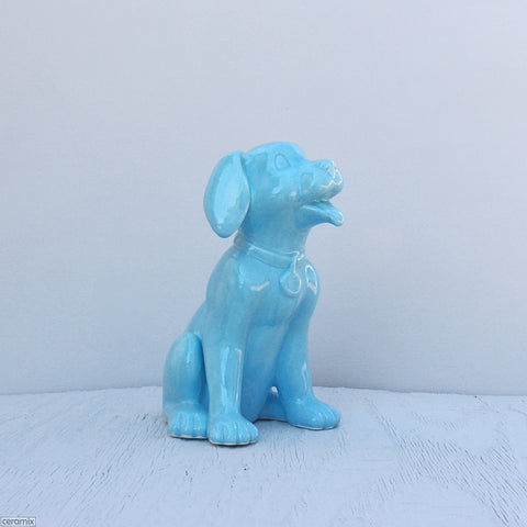Large Lucky Sitting Ceramic Dog