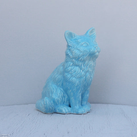Ceramic Lily Long Haired Sitting Kitten
