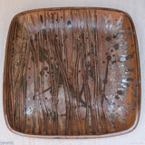 Woodland Large Square Stoneware Platter 8. Handmade by Margaret Melville at the Ceramix Pottery in South Africa from African clay. - 39.5cm Wide x 4.5cm H