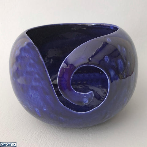 Midnight Galaxy large round yarn bowl handmade by Margaret Melville at Ceramix in South Africa
