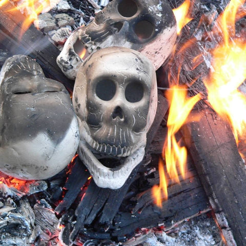 Zombie Skull Head Ceramic Bisque for bonfires and braais by Ceramix