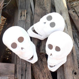 Ceramic Zombie Skull Heads for your braai, fireplace or bonfire by Ceramix.co.za