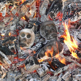 Zombie Skull Heads for Braais and fireplaces.