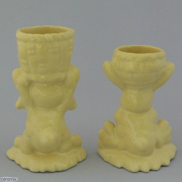 Back of 2 Yellow Basket Bunny Egg Cups