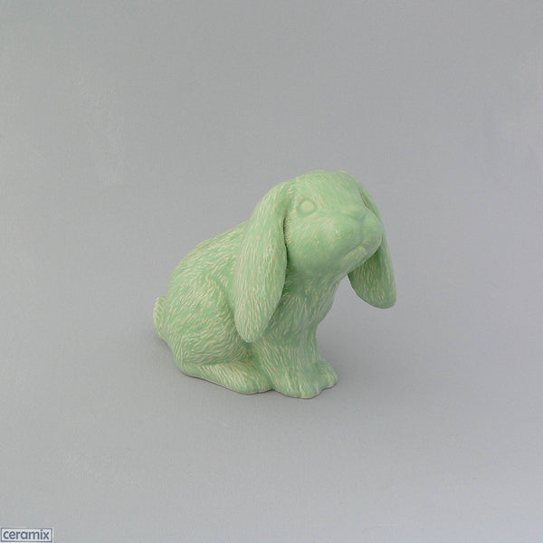 Dixie Sitting Ceramic Mint Green Glazed Bunny