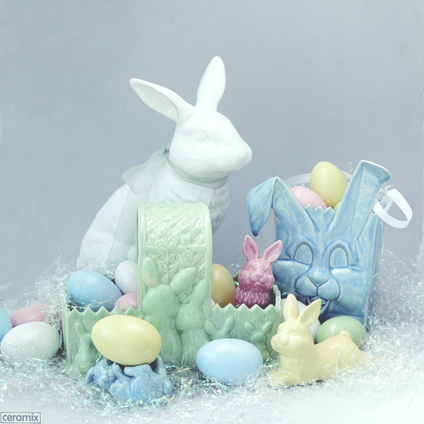 Bunny Basket with other Ceramix Easter items