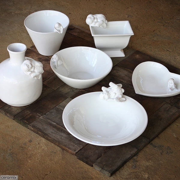 Bunny Ceramic Ware. Handmade by Ceramix in South Africa from Terracotta Clay & White Glaze.
