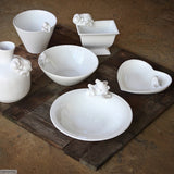 Handmade Bunny Ware by Ceramix. Made in South Africa from Terracotta Clay which is covered by a sheer white glaze.