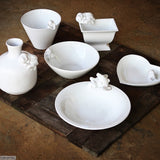 Bunny Ware. Handmade by Ceramix in South Africa from Terracotta Clay & White Glaze.