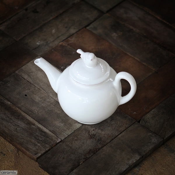 White Bird Teapot. Handmade by Ceramix in South Africa from Local African Terracotta Clay & White Glaze.