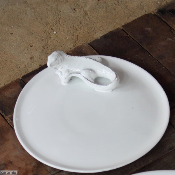 Iguana White Cheese Board. Handmade by Ceramix in South Africa from Local African Terracotta Clay & White Glaze.