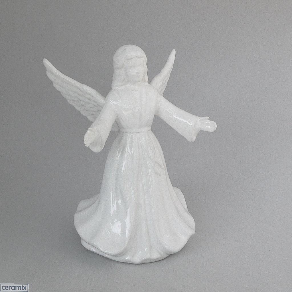 White Angel Christmas Tree Topper by Ceramix