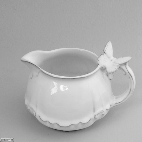 Butterfly Chateau Ware Milk Jug 8cm High x14cm Wide by Ceramix