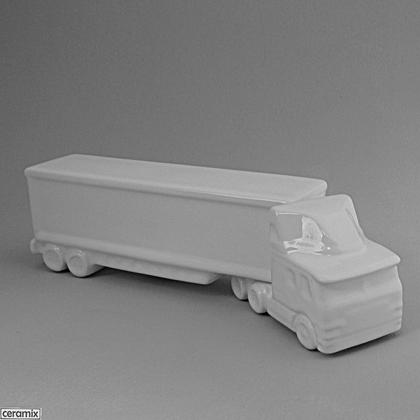White Cab Cover Truck with Box Trailer by Ceramix