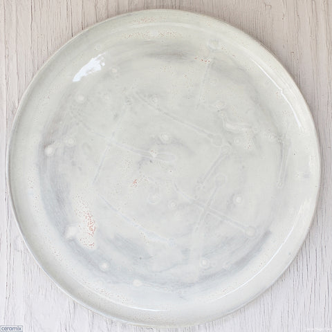 Dapple Grey Medium Round Stoneware Platter #5