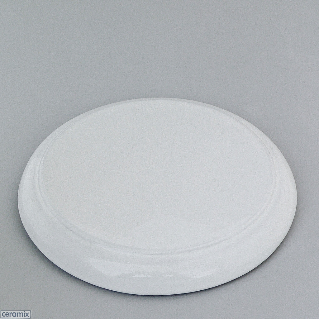 White Glazed Ceramic Designer Bread Board by Ceramix