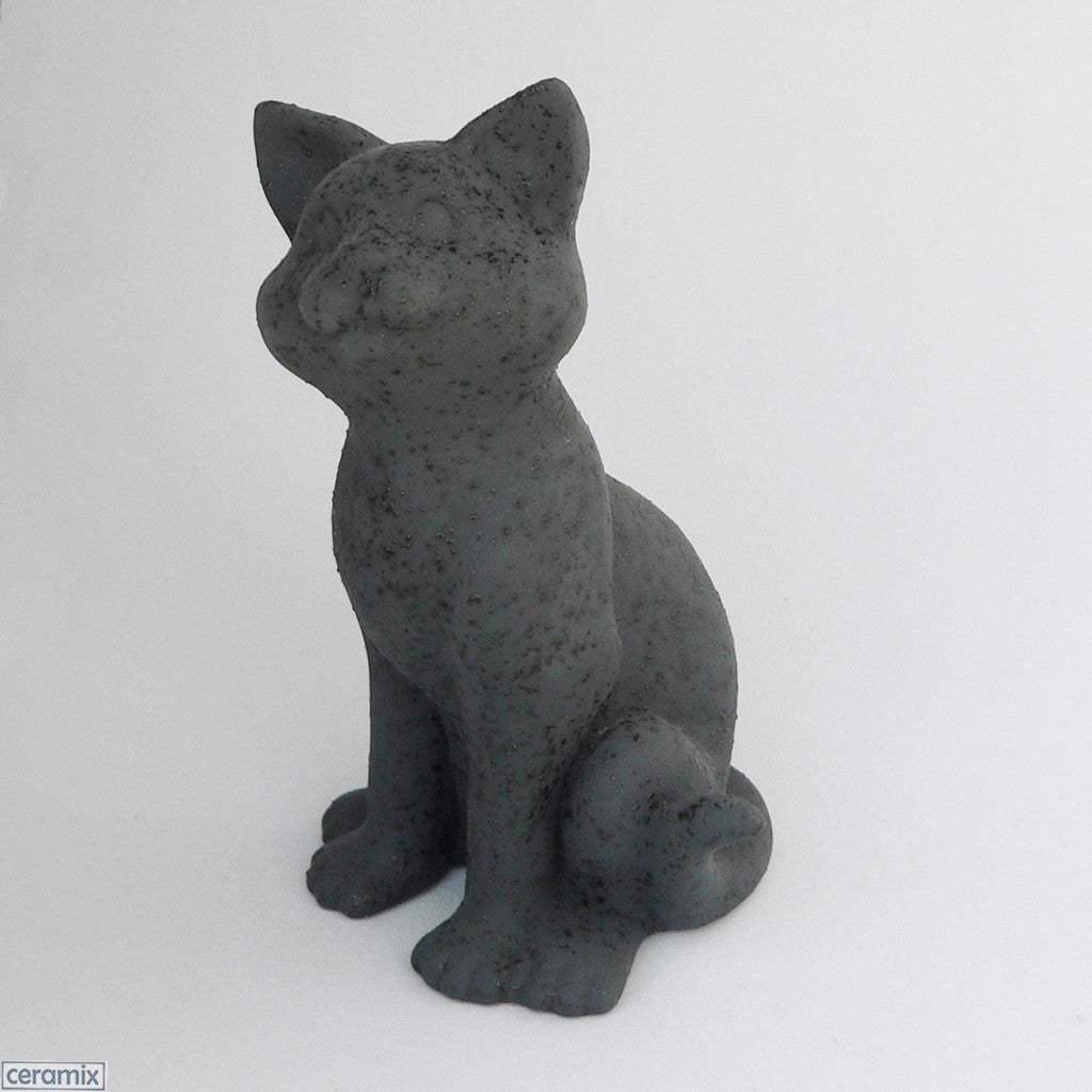 Dreamy Cat in Speckle Black by Ceramix