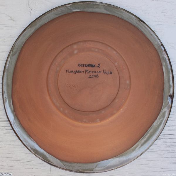 Back of the Round Stoneware Bowl Eerie Pool 2 - 30cm Wide x 5.5cm High