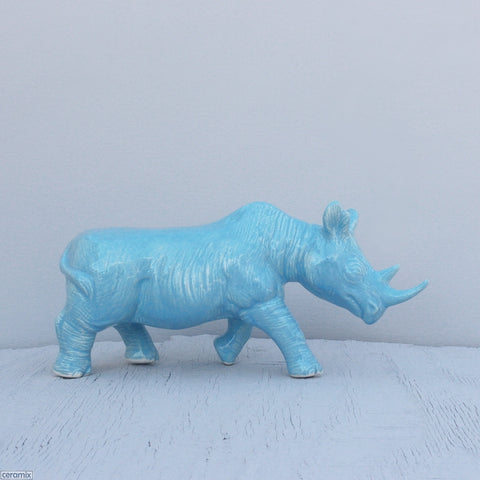 African Ceramic Black Rhino