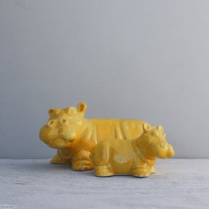 Ceramic Hippo and Calf