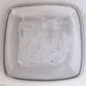 Large Square Stoneware Platter Ice Grey - 39.5cm Wide x 4.5cm High Handmade at the Ceramix pottery in South Africa