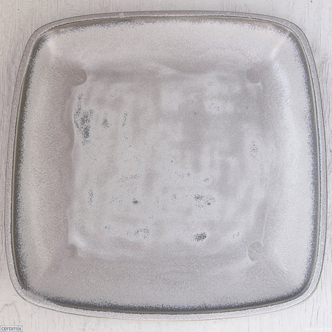Ice Grey Large Square Stoneware Platter