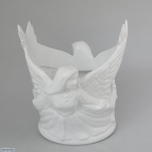 Large Angel Capital Candle Holder by Ceramix