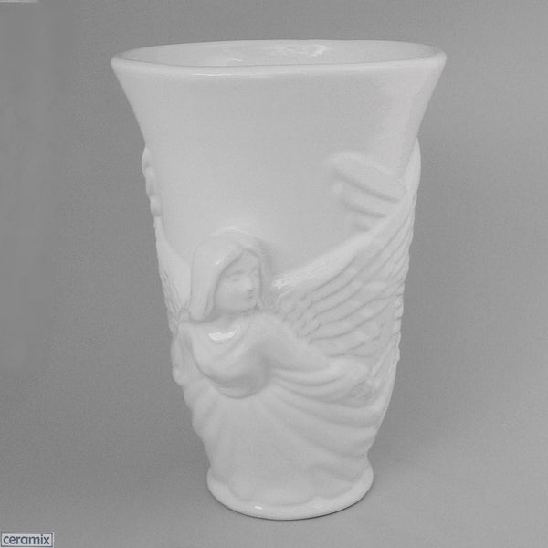 White Angel Vase by Ceramix