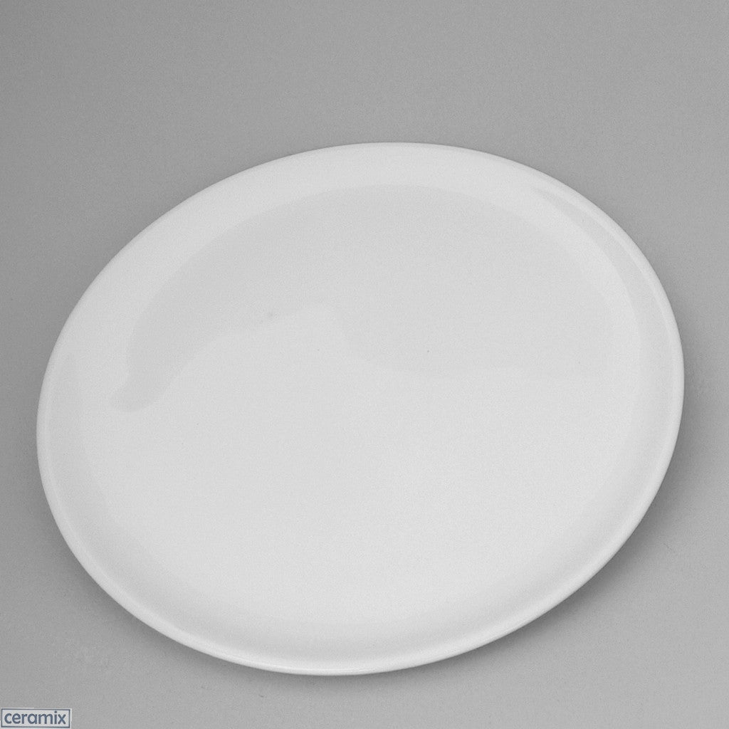 Terracotta Clay glazed white Designer Round Plate by Ceramix