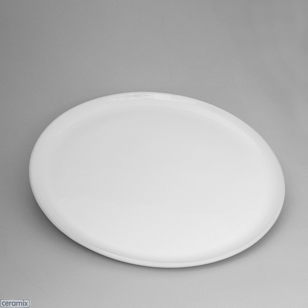 Small Cake Plate in Terracotta clay glazed white by Ceramix