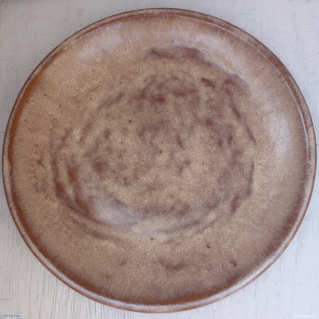 Rust Large Round Stoneware Platter - 43cm Wide x 5.5cm High